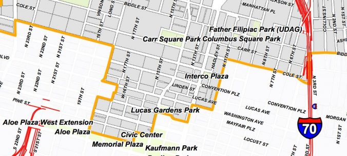 5th Ward Downtown Map